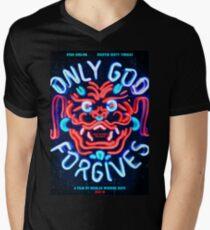 Nur Gott vergibt T-Shirt mit V-Ausschnitt