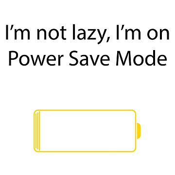Power Save Mode V2 by TheManorexic