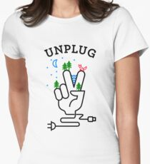 UNPLUG Women's Fitted T-Shirt