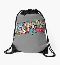 Greetings from Inkopolis Drawstring Bag