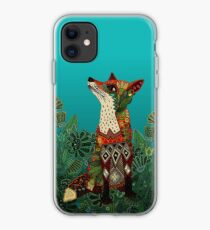 floral fox iPhone Case