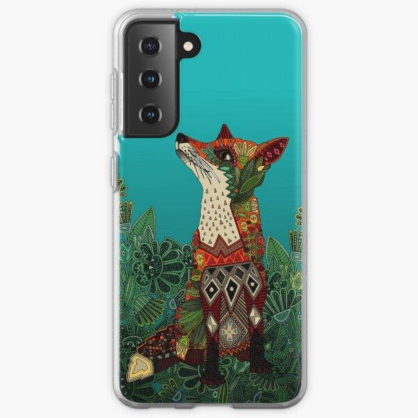floral fox Samsung Galaxy Soft Case