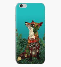 floral fox iPhone Case