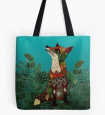 floral fox Tote Bag
