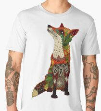 floral fox Men's Premium T-Shirt