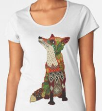 floral fox Women's Premium T-Shirt
