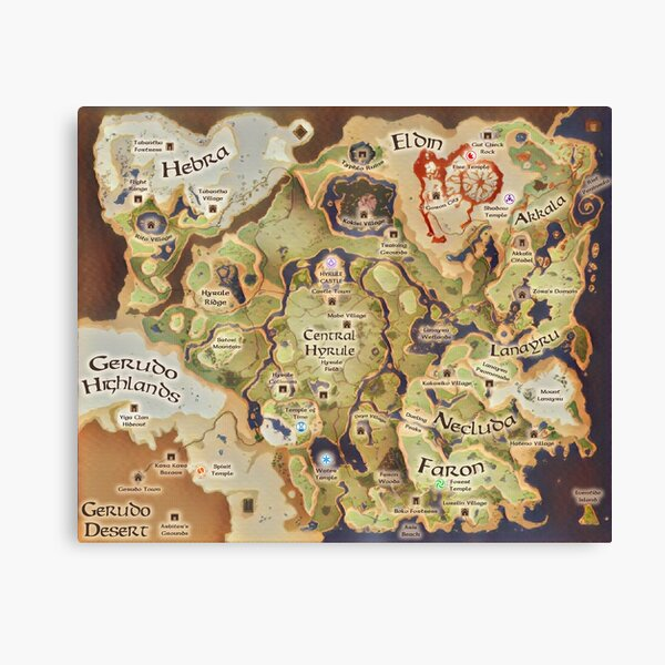 Hyrule Map for Dungeons & Dragons Canvas Print