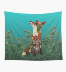 floral fox Wall Tapestry