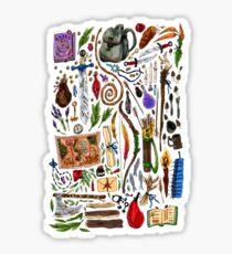 Fantasy Supplies Marker Illustration Sticker
