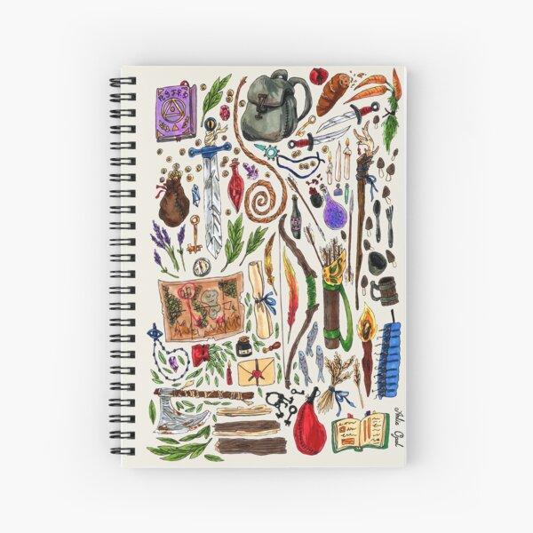 Fantasy Supplies Marker Illustration Spiral Notebook