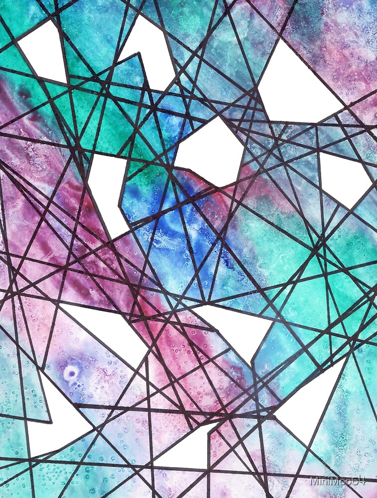 Watercolour Pattern - 1 by MiniMoo64