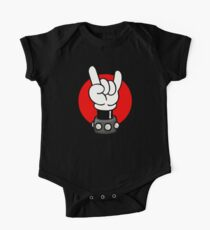 METALL - ROCKER - MAUS Baby Body Kurzarm