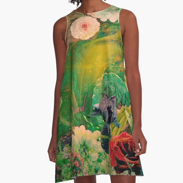 Eluard  2 Floral by Hyndussidart.com A-Line Dress