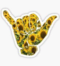 Sunflowers Shaka Sticker