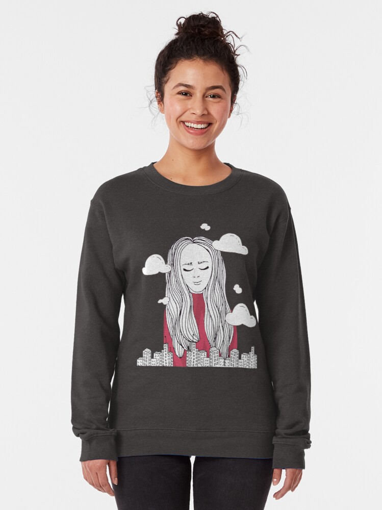 Alternate view of Daydreaming - Head in the clouds Pullover Sweatshirt