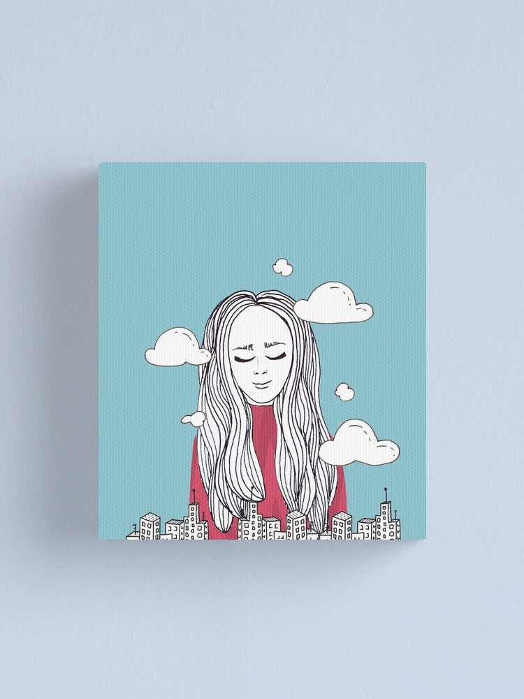 Alternate view of Daydreaming - Head in the clouds Canvas Print