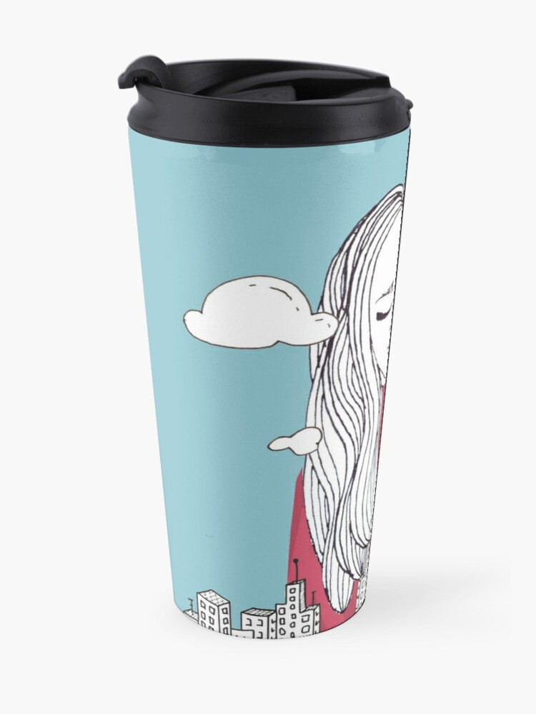 Alternate view of Daydreaming - Head in the clouds Travel Mug