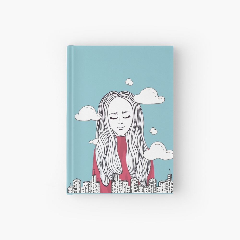 Daydreaming - Head in the clouds Hardcover Journal