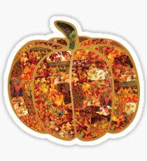 Autumn Pumpkin Collage Sticker