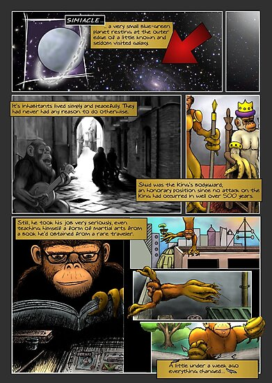 The Last Octochimp - page 2 (coloured) by Octochimp Designs