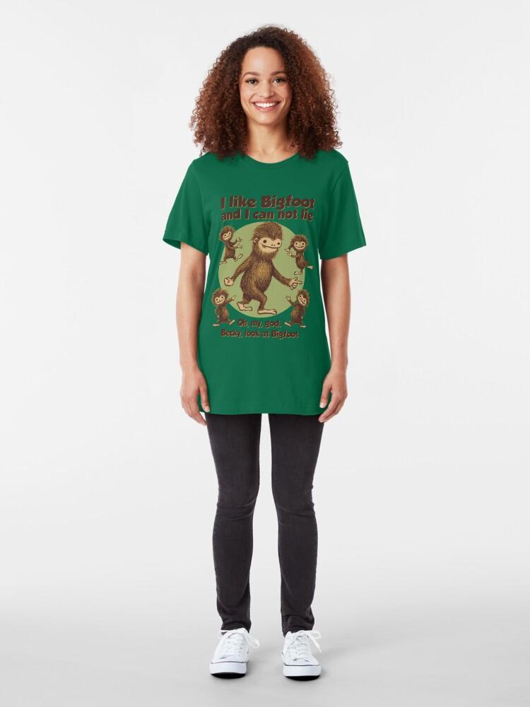 Alternate view of I like Bigfoot Slim Fit T-Shirt
