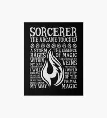 SORCERER, The Arcane-Touched - Dungeons & Dragons (White Text) Art Board