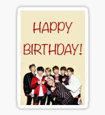 Bts birthday card Sticker