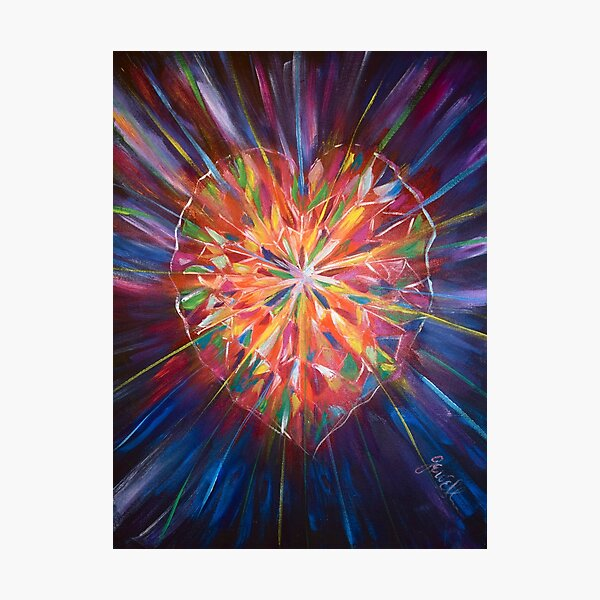 The Many Faceted Heart  Photographic Print