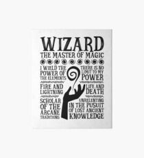 WIZARD, The Master of Magic - Dungeons & Dragons (Black Text) Art Board