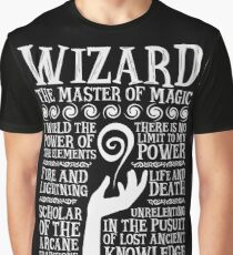 WIZARD, The Master of Magic - Dungeons & Dragons (White Text) Graphic T-Shirt