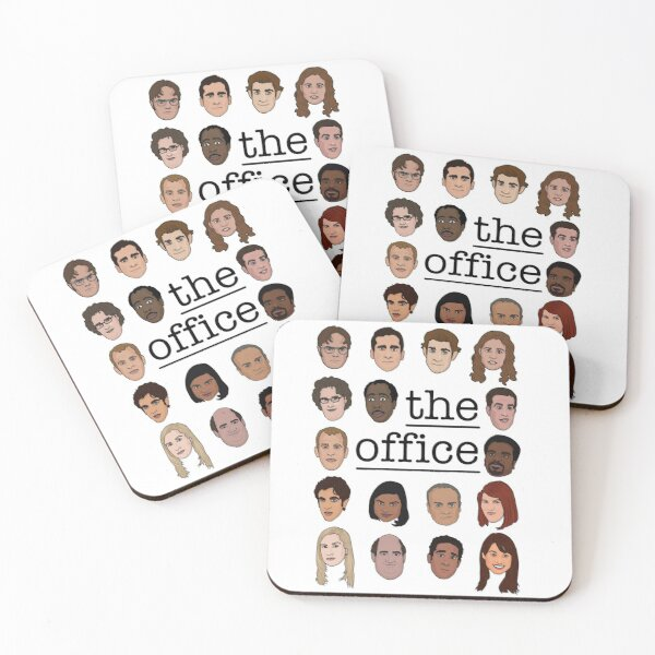The Office Crew Coasters (Set of 4)