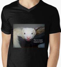 You've Been Raspberried! Mens V-Neck T-Shirt