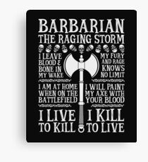 BARBARIAN, THE RAGING STORM - Dungeons & Dragons (White) Canvas Print