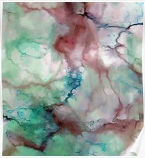 Colorful watercolor abstraction Poster