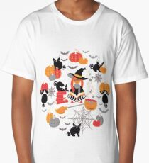 Enchanted Vintage Halloween Spell Long T-Shirt