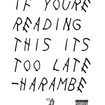 Harambe- Too Late by CarsonRGS