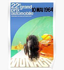 1964 Monaco Grand Prix Automobile Race Poster Poster