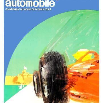 1964 Monaco Grand Prix Automobile Race Poster by retrographics