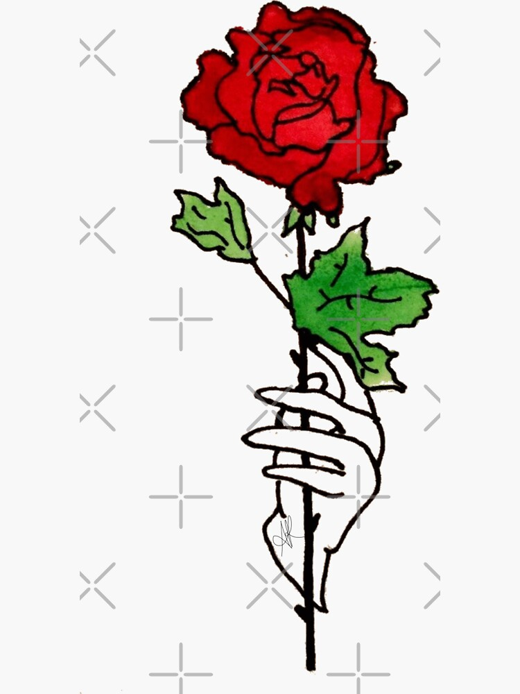 A Court of Thorns and Roses: Watercolor Rose (Single Design) by FoxGroves