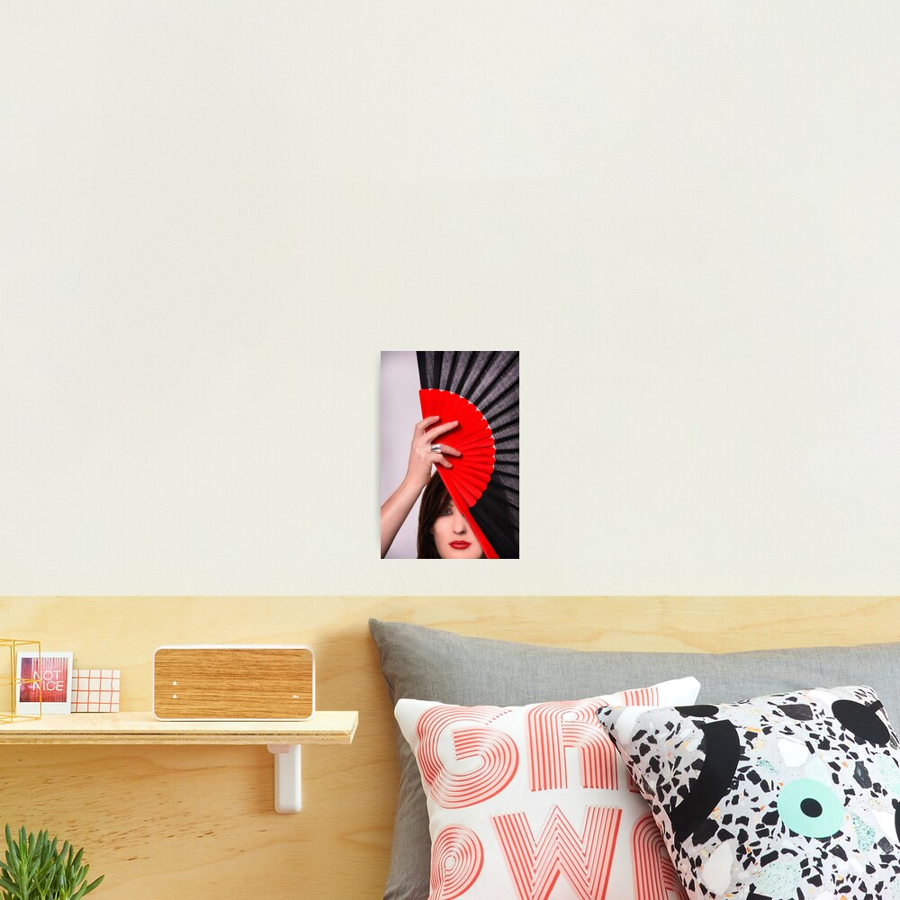 Red & Black Photographic Print