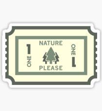 One Nature Please Sticker