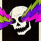 Lightning Bolt Skull by Jason Castillo