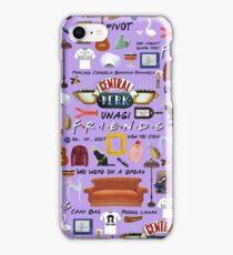Friends collage, purple  iPhone Case/Skin