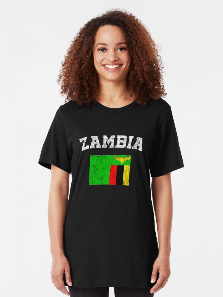 Zambia City Vintage Long Sleeve T-shirt