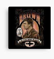 Brown is the new black Canvas Print