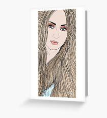 Sophie Turner by A.R. Regan Greeting Card