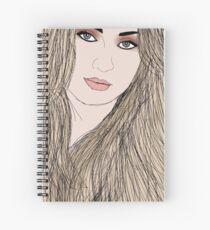 Sophie Turner by A.R. Regan Spiral Notebook