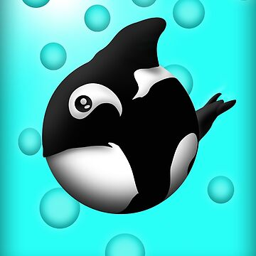 orca coo blue background by theFrostisreal