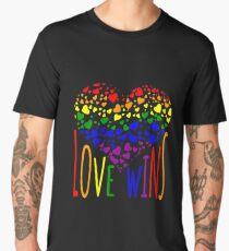 Love Wins, Marriage Equality T-Shirt design. Men's Premium T-Shirt