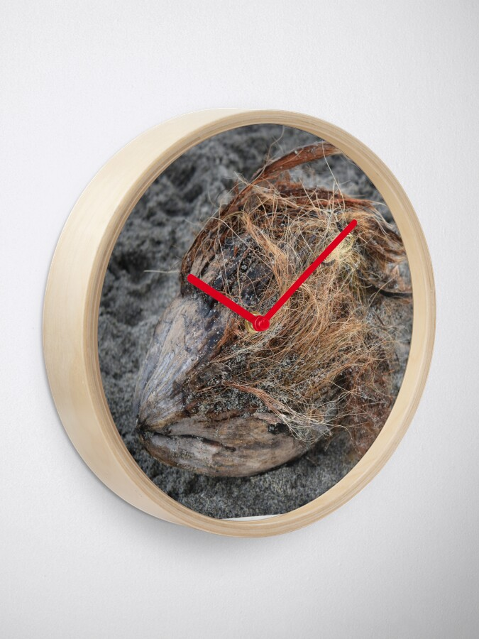 Alternate view of A sad coconut Clock